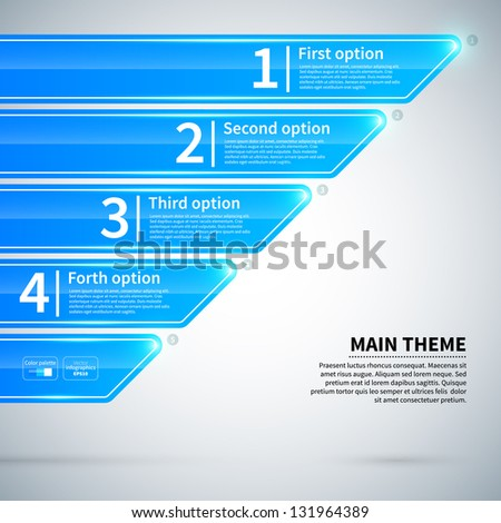 Modern infographics layout with different options. - stock vector