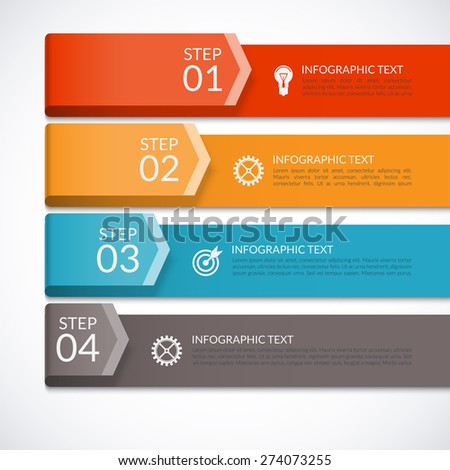 Modern infographics number options template for presentation, brochure, diagram, chart, web design - stock vector