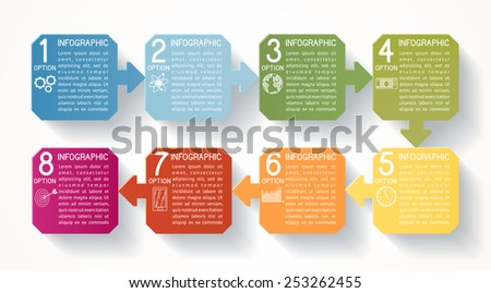 Modern infographics option banner, EPS 10 - stock vector