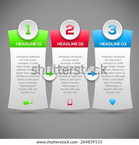 Modern infographics options banner. Modern Design Layout. Vector illustration. can be used for workflow layout, diagram, number options, web design. - stock vector