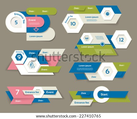 Modern infographics options banner. Vector illustration. can be used for work flow layout, diagram, number options, web design, prints. - stock vector