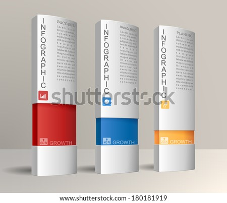 Modern infographics options banners, box design. EPS 10 contains transparency - stock vector