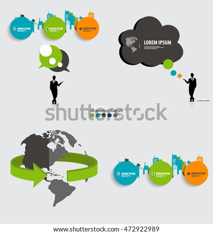 Infographic Ecology Concept Design Garden Tree Stock Vector ...