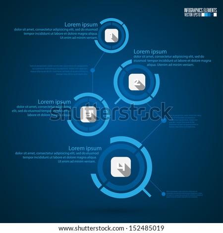 Modern infographics template, vector illustration. - stock vector