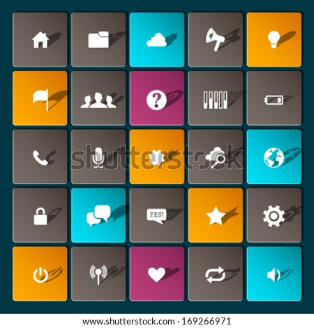 Modern information icons for mobile devices and interfaces. Graphic Design Editable For Your Design.   - stock vector
