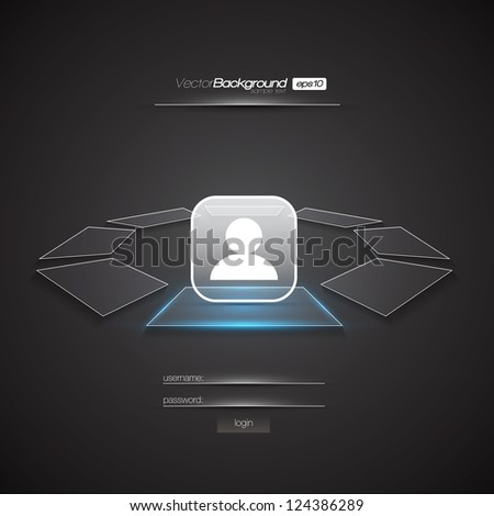 Modern Interface Design Login Screen | EPS10 Editable Vector Illustration - stock vector