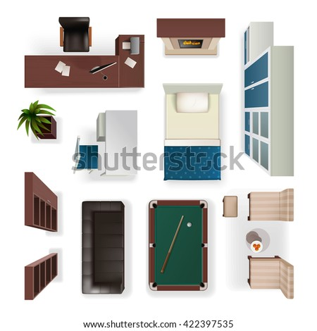 woodworking carpentry polishing painting flat icons stock vector