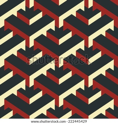 Modern Isometric Vector Seamless Pattern