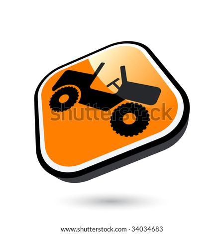 modern jeep sign - stock vector