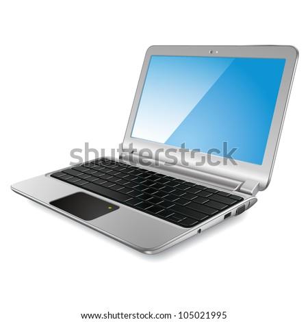 Modern laptop. Vector eps10 - stock vector
