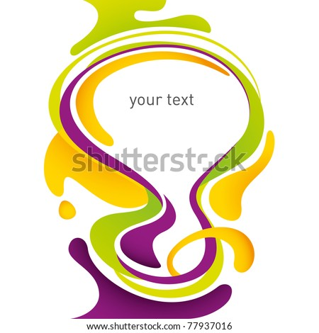 Modern layout with designed fluid shapes. Vector illustration. - stock vector