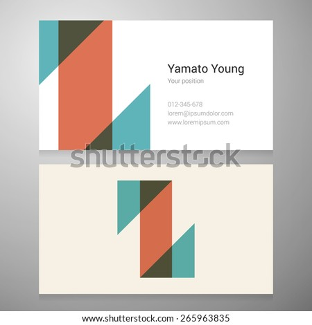 Modern letter Z icon business card template. Vector design. Layered, editable. - stock vector