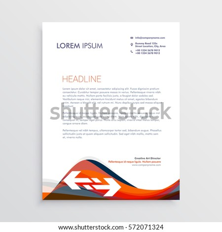 Modern letterhead design template red blue stock vector 572071324 modern letterhead design template with red and blue waves spiritdancerdesigns Image collections