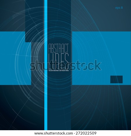 Modern Lines Background, Vector Illustration, communication and digital technology theme abstract background, clear eps 8 vector. - stock vector