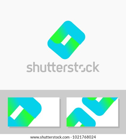 Modern logo template business card template stock vector 2018 modern logo template and business card template best for it software company programmer consultant colourmoves