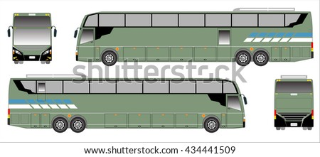 Modern Long bus vector, sporty bus