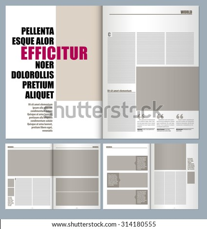 modern magazine layout template  - stock vector
