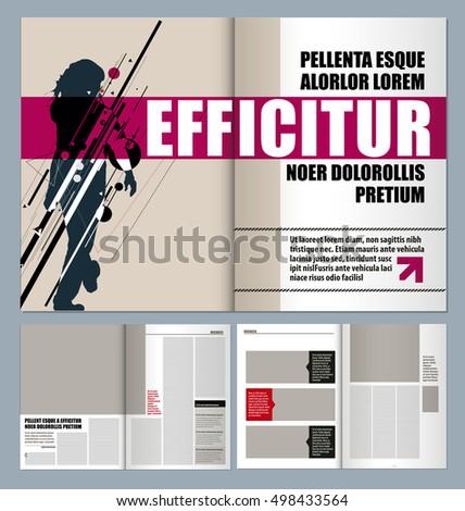 magazine format template