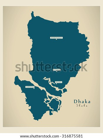 Modern Map - Dhaka BD