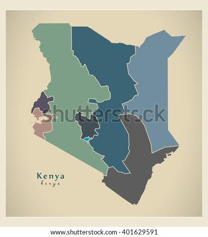 Kenya Map Stock Images RoyaltyFree Images Vectors Shutterstock