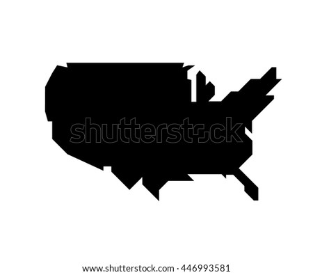 Modern Map, United States, USA vector, Independence day background