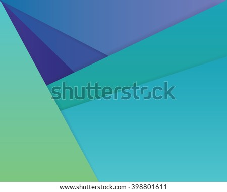 Modern material design style wallpaper pattern background in blue, turquoise and green color hues - stock vector
