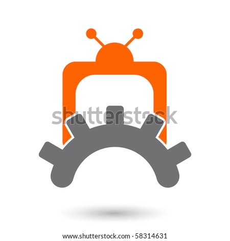 modern media sign - stock vector