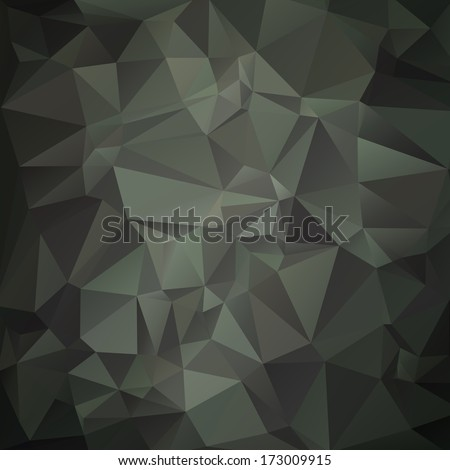 Modern military camouflage background (green,woodland) made of geometric shapes - stock vector