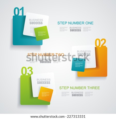 Modern minimalistic infographics banner. Vector illustration  - stock vector