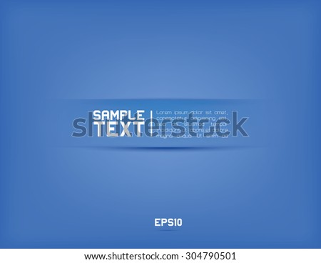 Modern minimalistic vector blue background - stock vector