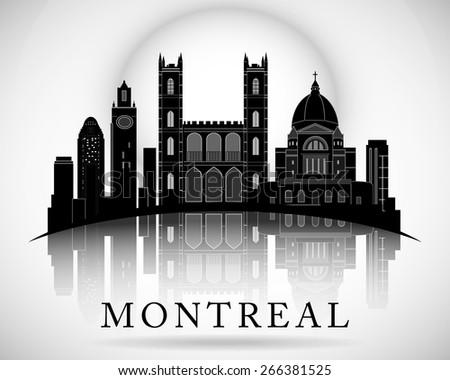 Modern Montreal City Skyline Design. Canada - stock vector