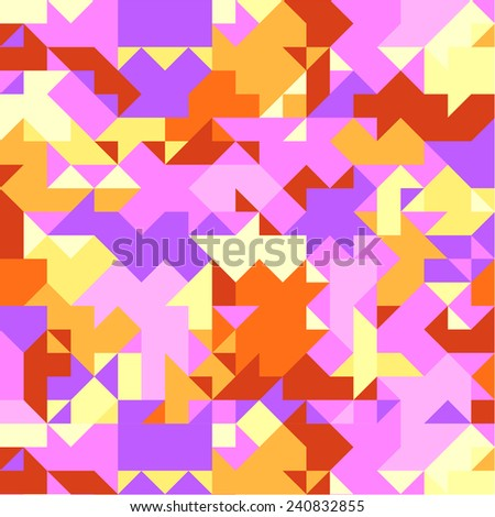Modern mosaic triangle pattern. - stock vector