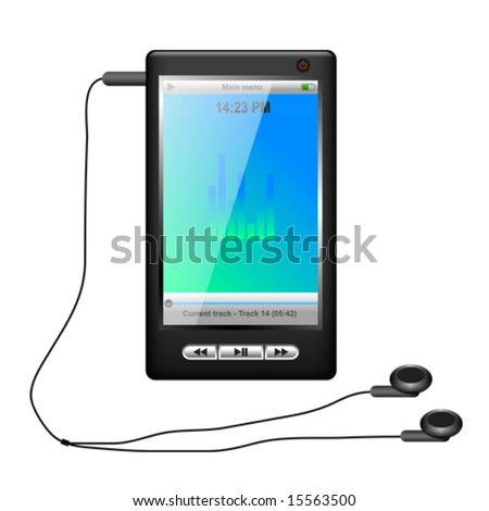 modern mp3 and mp4 player (Vector) - stock vector