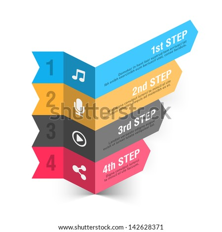 Modern music theme infographics template. Vector. - stock vector