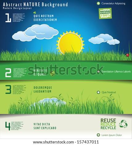 Modern nature design layout - stock vector