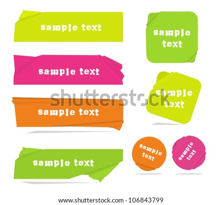 Modern neon color vector banners - stock vector