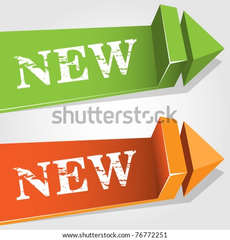 Modern new pointer - stock vector