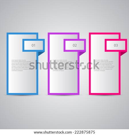 Modern numbered banners for tutorial,sale and advertising. - stock vector