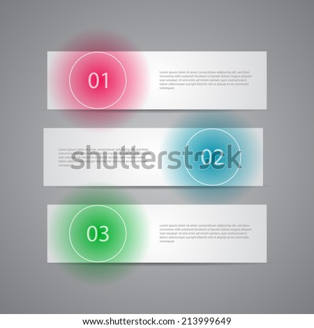 Modern Numbered Banners template design. - stock vector