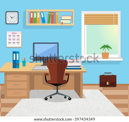 Office room stock photos royalty free images vectors for Design office space online