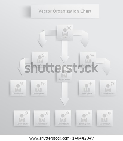 Modern organization chart business people, Vector illustration template design - stock vector