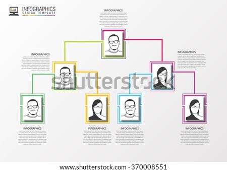 Modern organization chart template. Vector illustration - stock vector