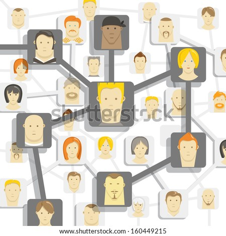 Modern people communication abstract scheme - stock vector