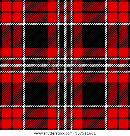 Modern plaid seamless checkered vector pattern. Retro textile collection. Red and black. Backgrounds & textures shop. - stock vector
