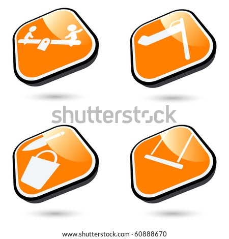 modern playground sign collection - stock vector