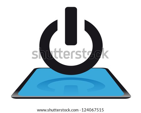 Modern power icon - stock vector