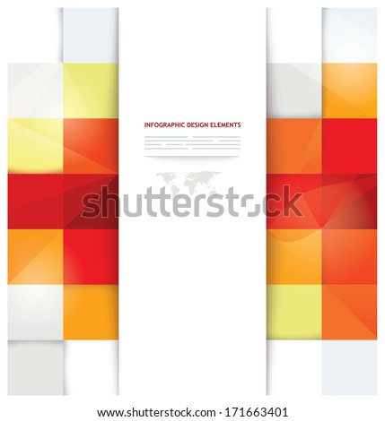 Modern presentation template with boxes used for internet design, brochures, banners and ads - stock vector