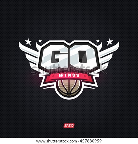 Modern professional go basketball motivation template logo design