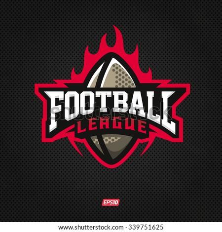 Modern professional logo for a football league - stock vector