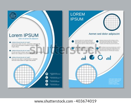 vector flyer template design front page stock vector 371197265